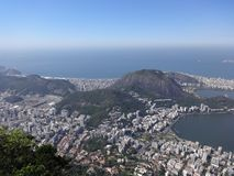 Ρίο ντε Τζανέιρο η πόλη άνωθεν στοκ εικόνες