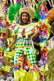 ΡΊΟ ΝΤΕ ΤΖΑΝΈΙΡΟ - ΣΤΙΣ 10 ΦΕΒΡΟΥΑΡΊΟΥ: Μια γυναίκα στο κοστούμι που χορεύει στο carn Στοκ εικόνα με δικαίωμα ελεύθερης χρήσης