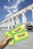 Ρίο ντε Τζανέιρο Centro αψίδων Lapa εισιτηρίων της Βραζιλίας Στοκ Εικόνα