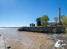 Ρίο de Λα Plata River, Ουρουγουάη, Αργεντινή Ταξίδι μέσω του νότου Στοκ Φωτογραφία
