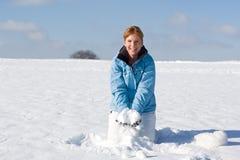 Ρίψη του χιονιού στοκ φωτογραφία με δικαίωμα ελεύθερης χρήσης