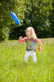 ρίψη frisbee Στοκ Εικόνες