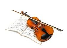 Ραβδί βιολιών και βιολιών πέρα από το αποτέλεσμα Στοκ Εικόνες