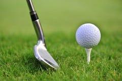 ραβδί γκολφ σφαιρών Στοκ Εικόνες