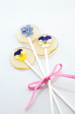 Ραβδί ζάχαρης λουλουδιών Στοκ Εικόνες