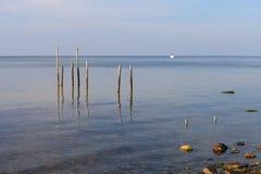 Ραβδιά στη θάλασσα Στοκ εικόνες με δικαίωμα ελεύθερης χρήσης