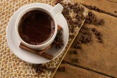 ραβδιά φλυτζανιών καφέ κανέ& Στοκ Εικόνα