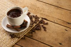 ραβδιά φλυτζανιών καφέ κανέ& Στοκ φωτογραφίες με δικαίωμα ελεύθερης χρήσης