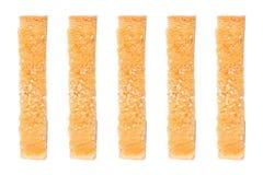 ραβδιά ψωμιού σουσαμιού που απομονώνονται στο λευκό Στοκ εικόνες με δικαίωμα ελεύθερης χρήσης