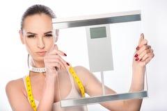 Ραβδί στο βάρος διατροφής και απώλειας Στοκ Φωτογραφίες