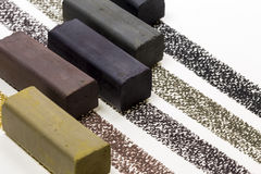 Ραβδί σχεδίων ξυλάνθρακα Στοκ φωτογραφία με δικαίωμα ελεύθερης χρήσης