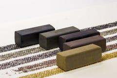 Ραβδί σχεδίων ξυλάνθρακα Στοκ Φωτογραφία