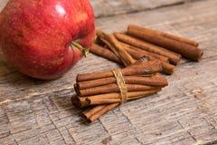 Ραβδιά μήλων και κανέλας Στοκ φωτογραφίες με δικαίωμα ελεύθερης χρήσης