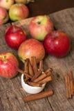 Ραβδιά μήλων και κανέλας Στοκ Φωτογραφία