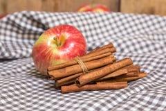Ραβδιά μήλων και κανέλας Στοκ Εικόνες