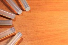 Ραβδιά πυροβόλων όπλων κόλλας για την τέχνη και τις ράβδους Στοκ φωτογραφία με δικαίωμα ελεύθερης χρήσης