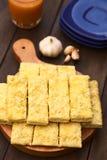 Ραβδιά σκόρδου και τυριών Στοκ φωτογραφία με δικαίωμα ελεύθερης χρήσης