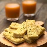 Ραβδιά σκόρδου και τυριών Στοκ εικόνες με δικαίωμα ελεύθερης χρήσης