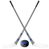 ραβδιά σφαιρών χόκεϋ Στοκ Εικόνα