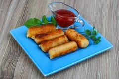 Ραβδιά τυριών τηγανητών Στοκ Εικόνες