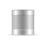 Ραβδωτό δοχείο κασσίτερου Διανυσματικό συσκευάζοντας πρότυπο για το σχέδιό σας Στοκ Εικόνες