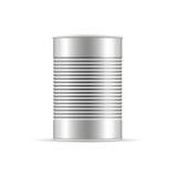 Ραβδωτό δοχείο κασσίτερου Διανυσματικό συσκευάζοντας πρότυπο για το σχέδιό σας Στοκ εικόνα με δικαίωμα ελεύθερης χρήσης
