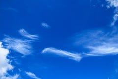 Ραβδώσεις σύννεφων Στοκ εικόνα με δικαίωμα ελεύθερης χρήσης