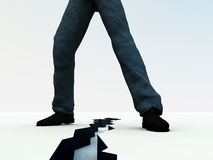 Ραγισμένα πόδια 5 διανυσματική απεικόνιση
