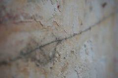 Ραγισμένη μακροεντολή τοίχων Στοκ φωτογραφία με δικαίωμα ελεύθερης χρήσης