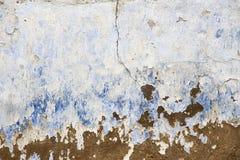 Ραγισμένη μπλε σύσταση υποβάθρου τοίχων στοκ φωτογραφίες
