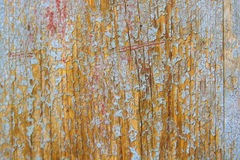 Ραγισμένη μπλε ζωγραφική στην ξύλινη επιφάνεια Στοκ φωτογραφίες με δικαίωμα ελεύθερης χρήσης