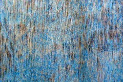 Ραγισμένη μπλε ζωγραφική στην ξύλινη επιφάνεια Στοκ φωτογραφία με δικαίωμα ελεύθερης χρήσης