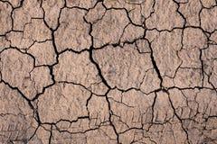 ραγισμένη ξηρά γήινη σύσταση Στοκ Εικόνες