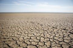 ραγισμένη ξηρά γη Στοκ εικόνες με δικαίωμα ελεύθερης χρήσης