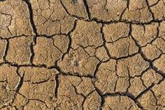 ραγισμένη ξηρά γη Στοκ Εικόνα