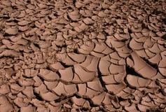 ραγισμένη ξηρά λάσπη Στοκ Εικόνες