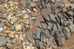 Ραγισμένη πέτρα. Στοκ Φωτογραφίες
