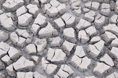 Ραγισμένη στεριά χωρίς νερό Στοκ Εικόνα