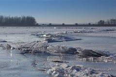 ραγισμένος πάγος Στοκ Φωτογραφία