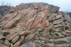 Ραγισμένος στα μικρά τεμάχια του βράχου σχιστόλιθου στοκ φωτογραφίες