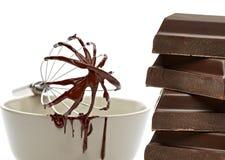 Ραγισμένος σωρός ταμπλετών σοκολάτας στοκ εικόνες