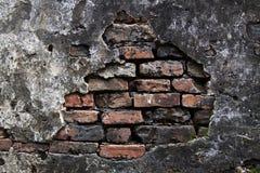 ραγισμένος τοίχος ασβε&sig Στοκ Φωτογραφία