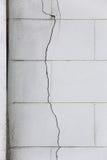 Ραγισμένος τοίχος Στοκ φωτογραφία με δικαίωμα ελεύθερης χρήσης
