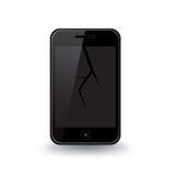 Ραγισμένο έξυπνο τηλέφωνο Στοκ φωτογραφία με δικαίωμα ελεύθερης χρήσης