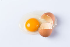Ραγισμένο αυγό Στοκ φωτογραφία με δικαίωμα ελεύθερης χρήσης