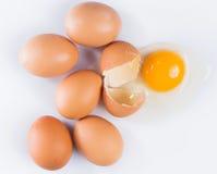 Ραγισμένο αυγό Στοκ εικόνες με δικαίωμα ελεύθερης χρήσης