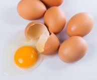 ραγισμένο αυγό Στοκ Εικόνες