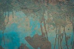 Ραγισμένο και αποφλοίωσης υπόβαθρο τοίχων χρωμάτων παλαιό Κλασικό grunge Λεπτομέρεια, ξεπερασμένη στοκ φωτογραφίες με δικαίωμα ελεύθερης χρήσης