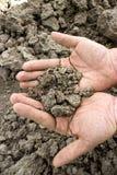 Ραγισμένο ξηρό χώμα Στοκ φωτογραφίες με δικαίωμα ελεύθερης χρήσης