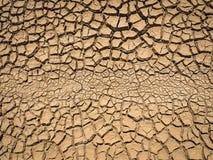 ραγισμένο ξηρό χώμα Στοκ εικόνα με δικαίωμα ελεύθερης χρήσης